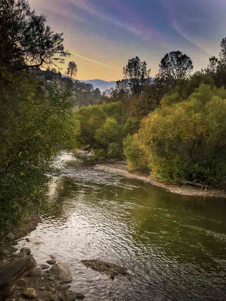 The Kern River and the Sequoia National Forest near Kernville California.