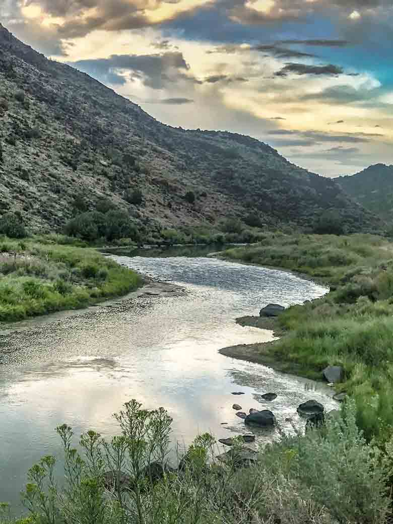 The Rio Grande River during a whitewater rafting trip in New Mexico.