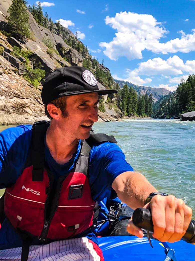 Guided whitewater river rafting on the Main Salmon River in Idaho.