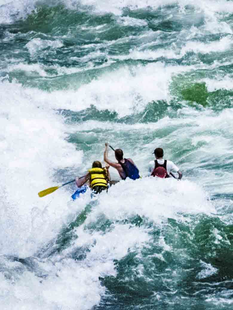 The Hazard family running whitewater in Hells Canyon, Idaho. It's a family thing.